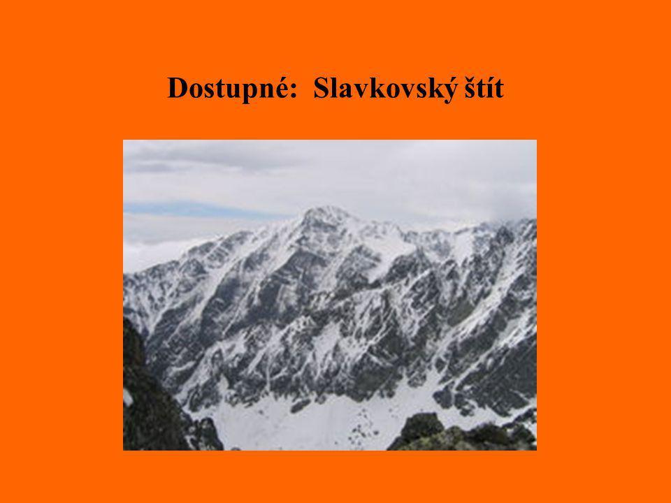 Dostupné: Slavkovský štít