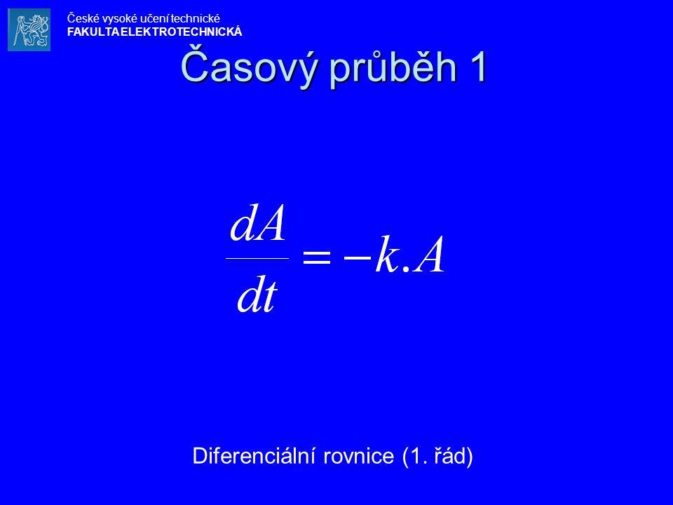 Časový průběh 1 Diferenciální rovnice (1. řád) České vysoké učení technické FAKULTA ELEKTROTECHNICKÁ
