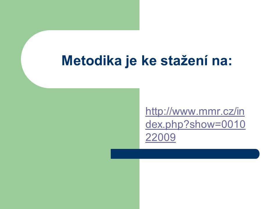 Metodika je ke stažení na: http://www.mmr.cz/in dex.php?show=0010 22009