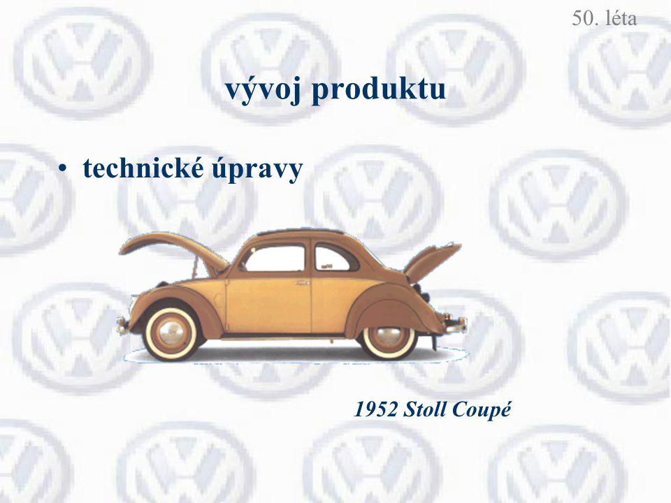 vývoj produktu technické úpravy 1952 Stoll Coupé 50. léta