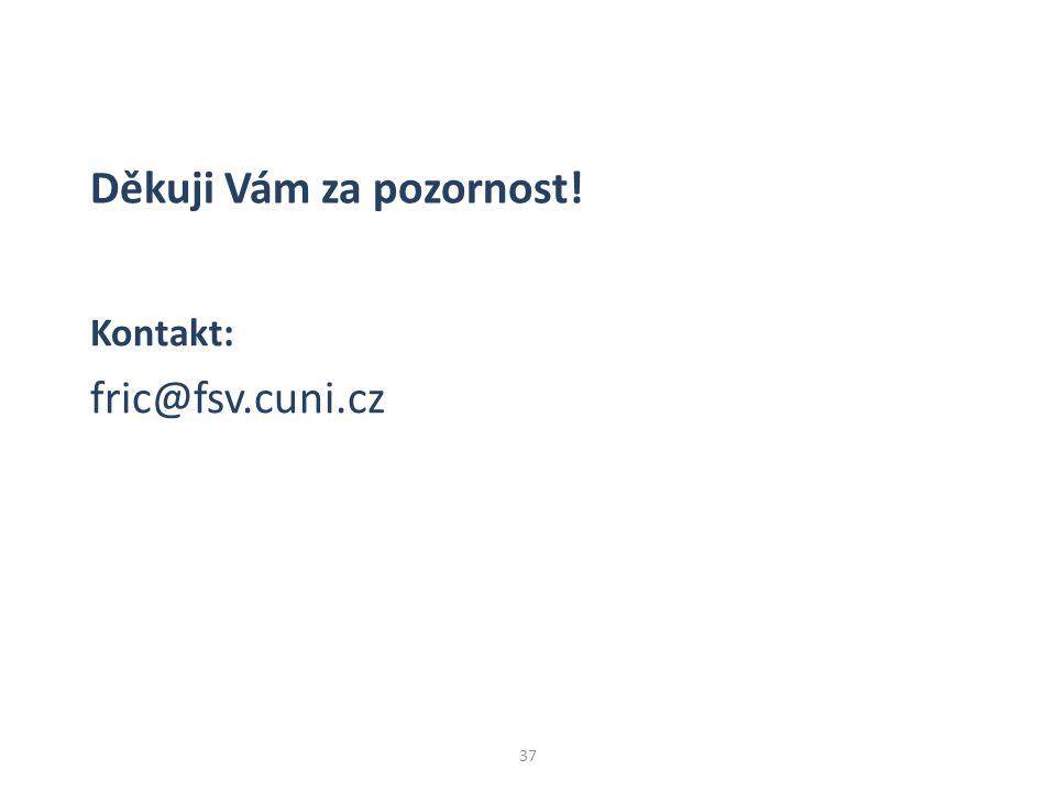 37 Kontakt: fric@fsv.cuni.cz Děkuji Vám za pozornost!