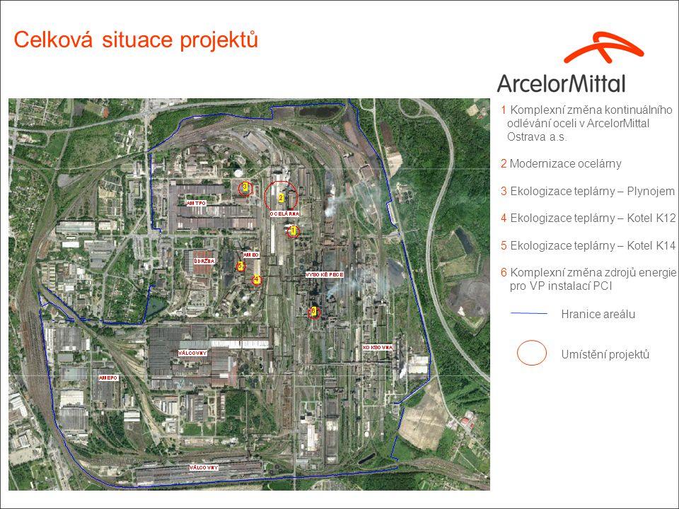 1 Komplexní změna kontinuálního odlévání oceli v ArcelorMittal Ostrava a.s. 2 Modernizace ocelárny 3 Ekologizace teplárny – Plynojem 4 Ekologizace tep