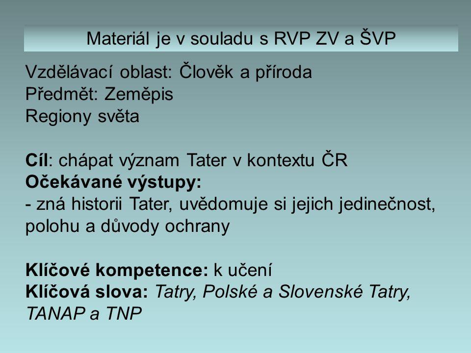 Obsah 4) Vysoké Tatry – úvod 5) Charakteristika 6) Geologická minulost 7) Matematické údaje 8) Důvody ochrany přírody 9) Způsoby ochrany přírody 10) Administrativní údaje