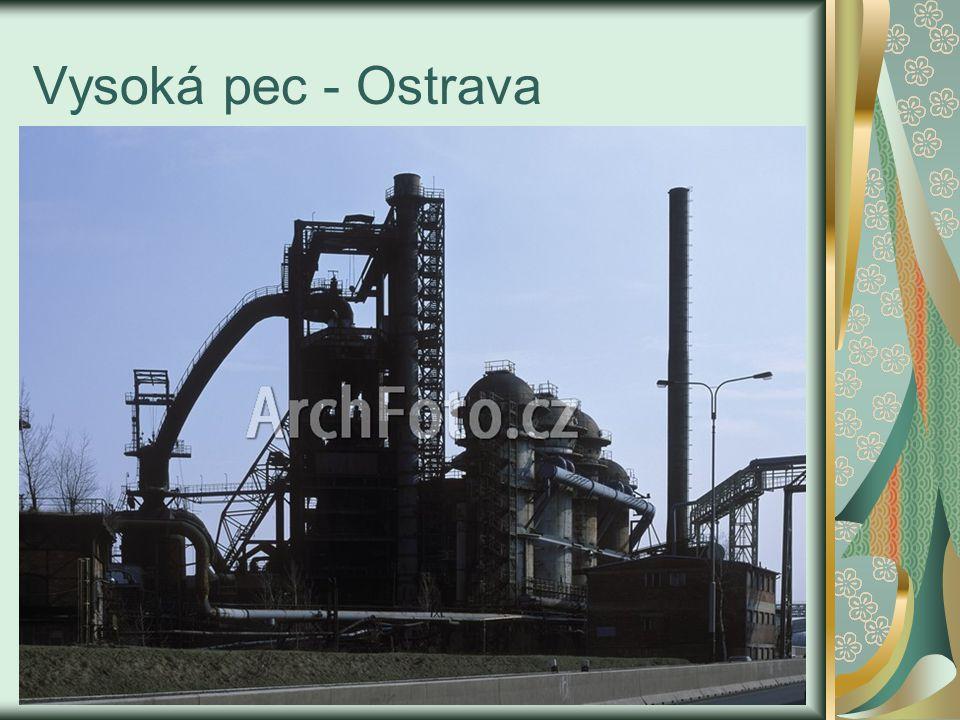 Vsázka -směs železné rudy, koksu a vápence, - dává se do otvoru v horní části pece – kychta - při teplotě 400 – 1000°C probíhá termický rozklad vápence: CaCO 3 → CaO + CO 2