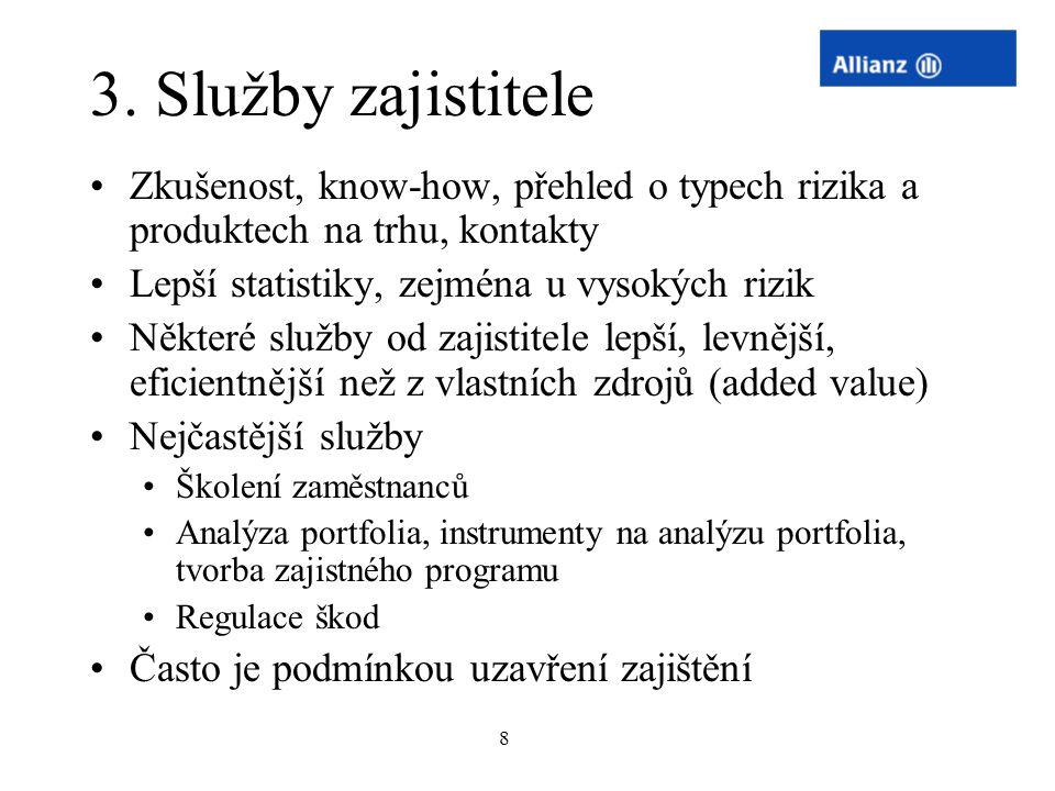 29 Příklad zaj.programu Riziko: PČ 37.5 Mio., PML 30 Mio.