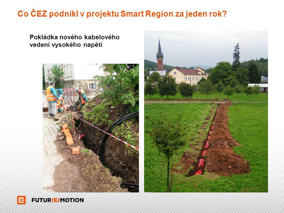 Co ČEZ podnikl v projektu Smart Region za jeden rok? Pokládka nového kabelového vedení vysokého napětí