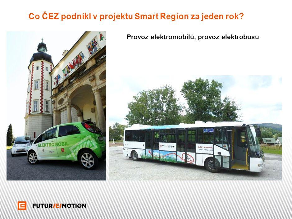 Co ČEZ podnikl v projektu Smart Region za jeden rok? Provoz elektromobilů, provoz elektrobusu