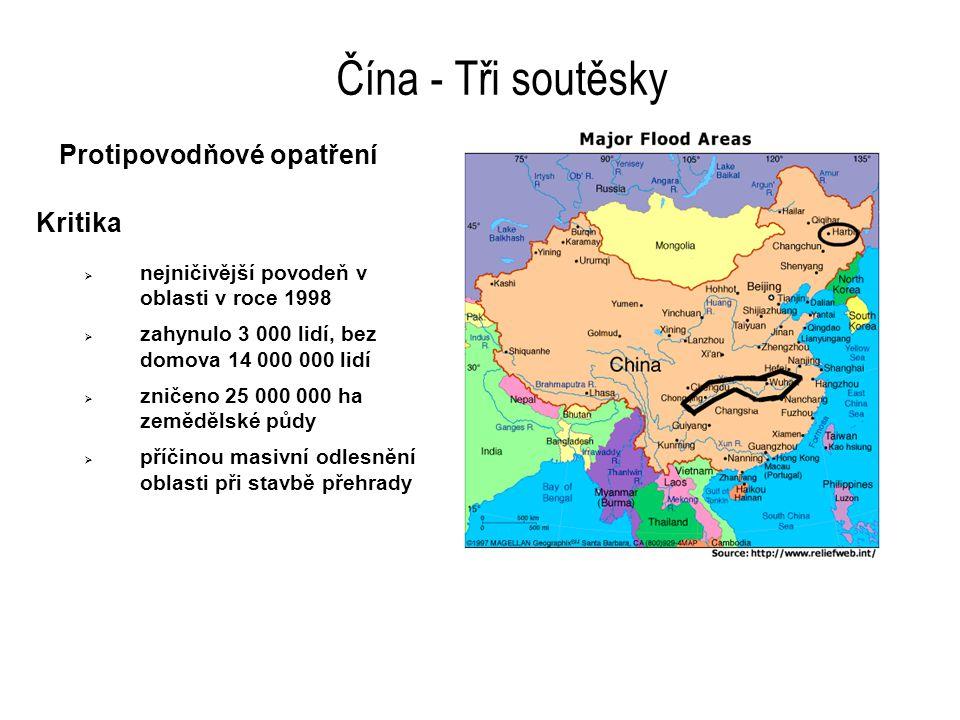 Čína - Tři soutěsky Protipovodňové opatření  v posledních 100 letech zemřelo při záplavách na Yangze více než 1 000 lidí - přímé oběti + oběti násled