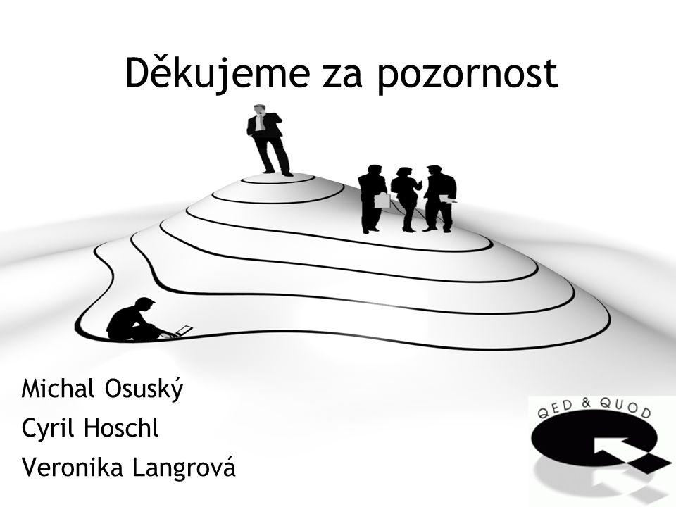 Děkujeme za pozornost Michal Osuský Cyril Hoschl Veronika Langrová