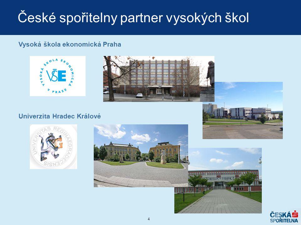 4 České spořitelny partner vysokých škol Vysoká škola ekonomická Praha Univerzita Hradec Králové
