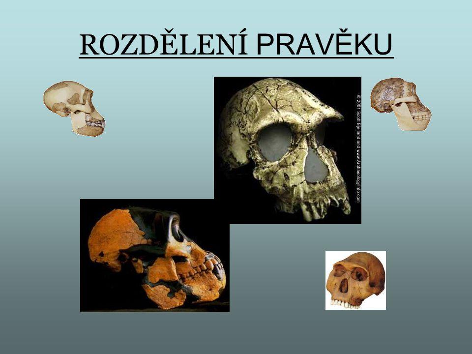 PALEOLIT (palios – starý, lithos – kámen) = starší doba kamenná STARŠÍ PALEOLIT AUSTROLOPITHECUS – pouze v Africe – sběr plodin HOMO ERECTUS – podstatně rozšířenější – Evropa.