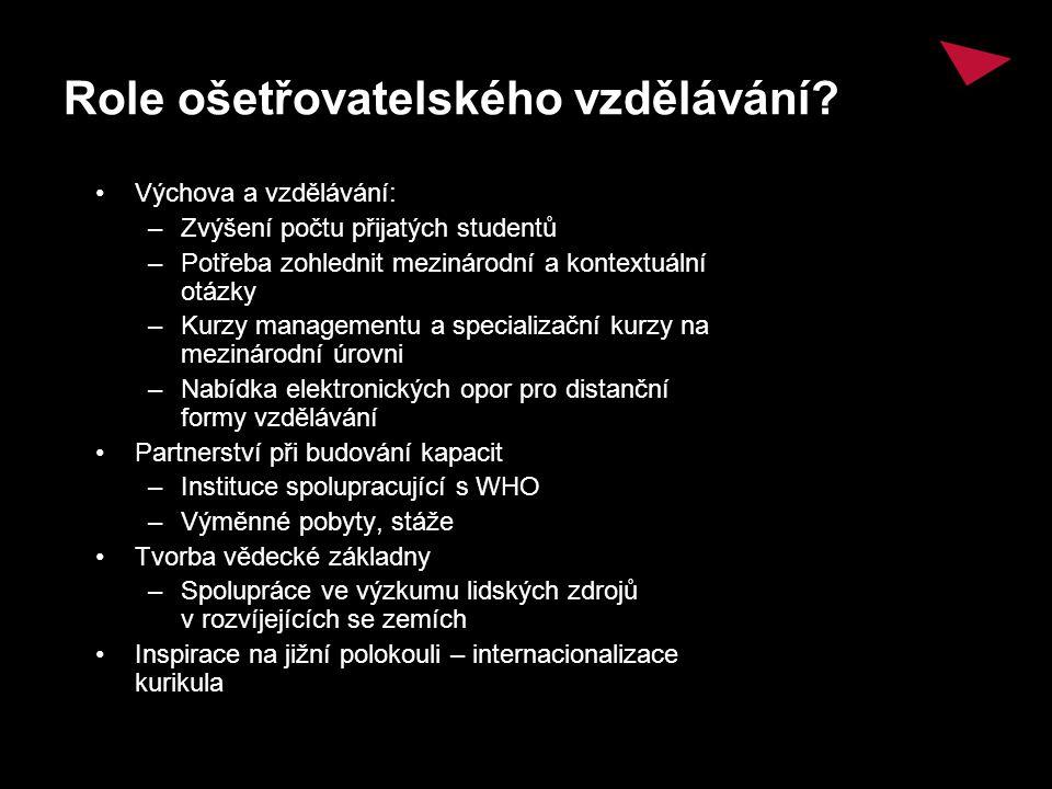 Role ošetřovatelského vzdělávání.