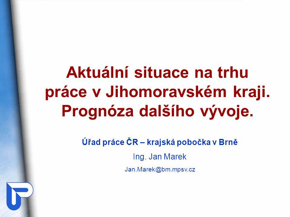 I.Nová role ÚP v ČR II.Situace na trhu práce v JMK – stručná charakteristika.