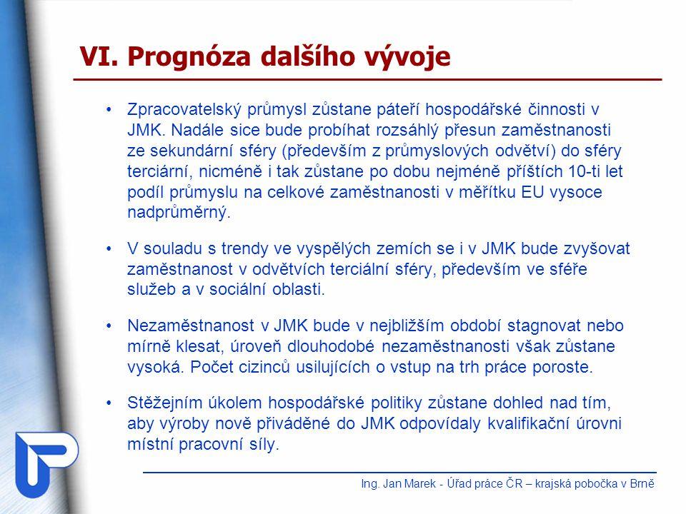 Zpracovatelský průmysl zůstane páteří hospodářské činnosti v JMK.