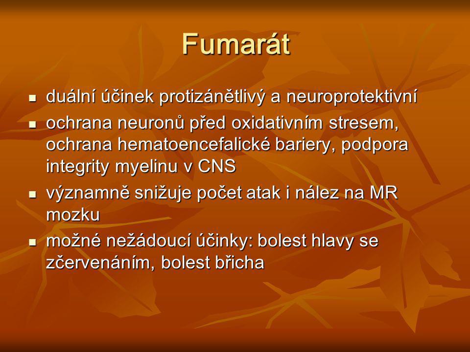 Fumarát duální účinek protizánětlivý a neuroprotektivní duální účinek protizánětlivý a neuroprotektivní ochrana neuronů před oxidativním stresem, ochr