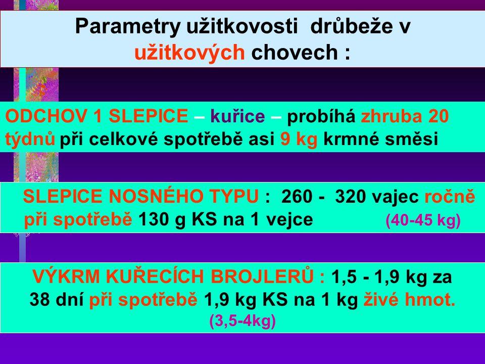 Uspořádání a funkčnost trávicího traktu Minimálně vyvinut : čich, chuť a slinné žlázy Napájení Limitující aminokyseliny – sirné - MET + CYS
