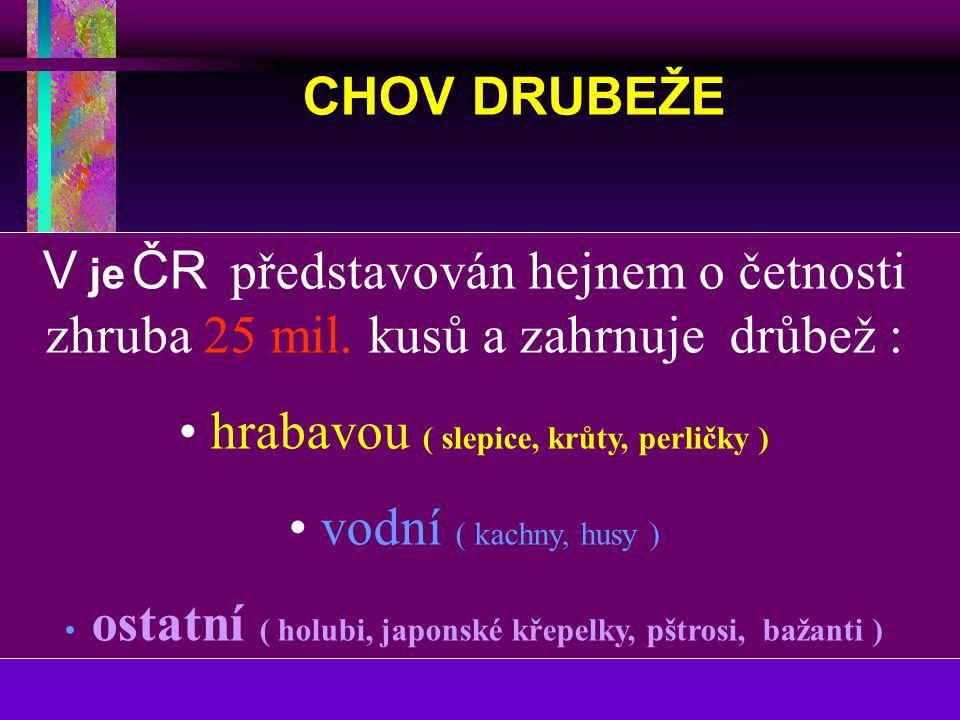 Výroba a spotřeba drůbežího masa v ČR V roce 2003 se odhaduje pokles spotřeby na 23,7 kg