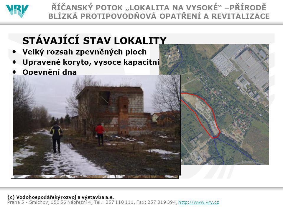 (c) Vodohospodářský rozvoj a výstavba a.s. Praha 5 - Smíchov, 150 56 Nábřežní 4, Tel.: 257 110 111, Fax: 257 319 394, http://www.vrv.czhttp://www.vrv.