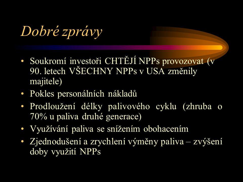 Dobré zprávy Soukromí investoři CHTĚJÍ NPPs provozovat (v 90.