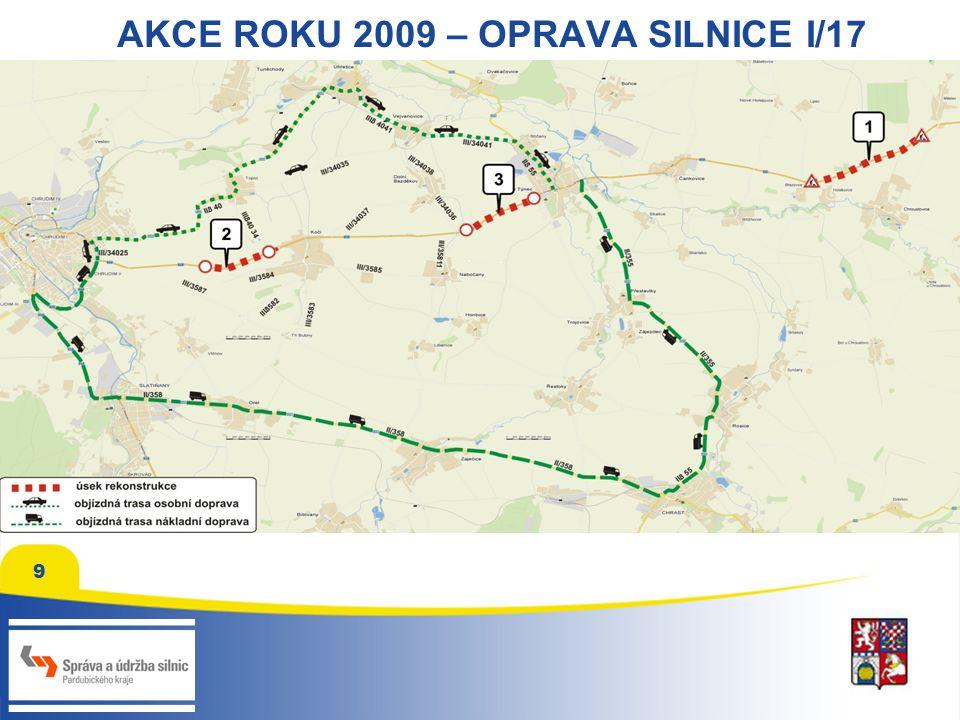 9 AKCE ROKU 2009 – OPRAVA SILNICE I/17