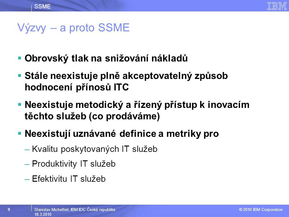 SSME © 2010 IBM Corporation 10Stanislav Michelfeit, IBM IDC Česká republika 18.3.2010 2010 - ??.