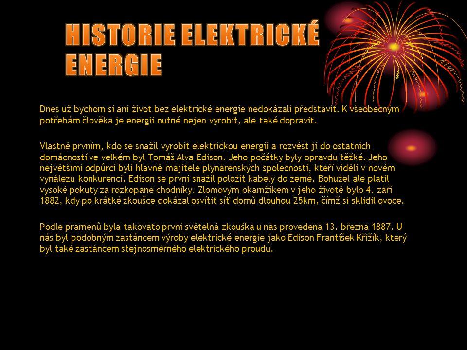 Dnes už bychom si ani život bez elektrické energie nedokázali představit. K všeobecným potřebám člověka je energii nutné nejen vyrobit, ale také dopra
