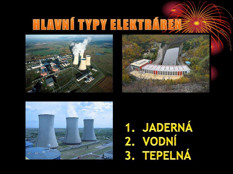 Na našem území najdeme několik druhů elektráren.