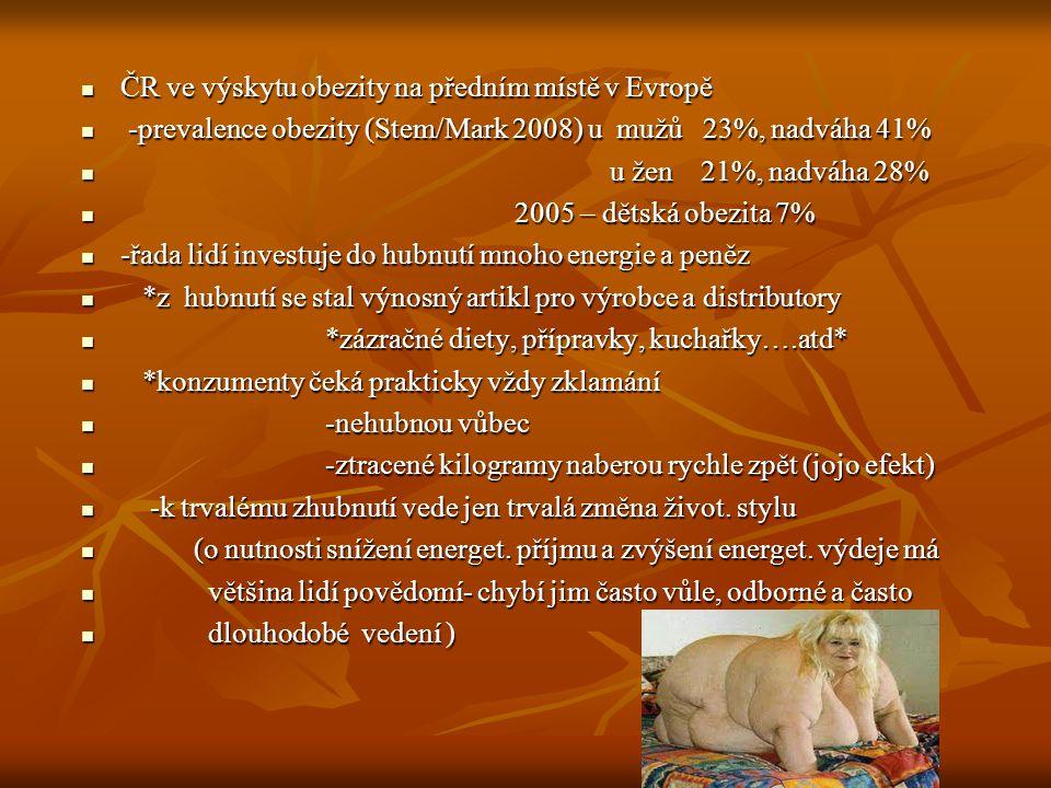 -obezita nejen problém zdravotní-ale i problém ovl.