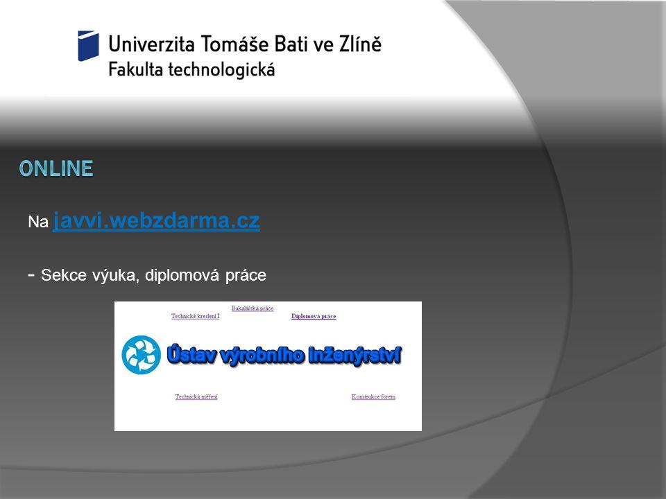 Na javvi.webzdarma.cz - Sekce výuka, diplomová práce