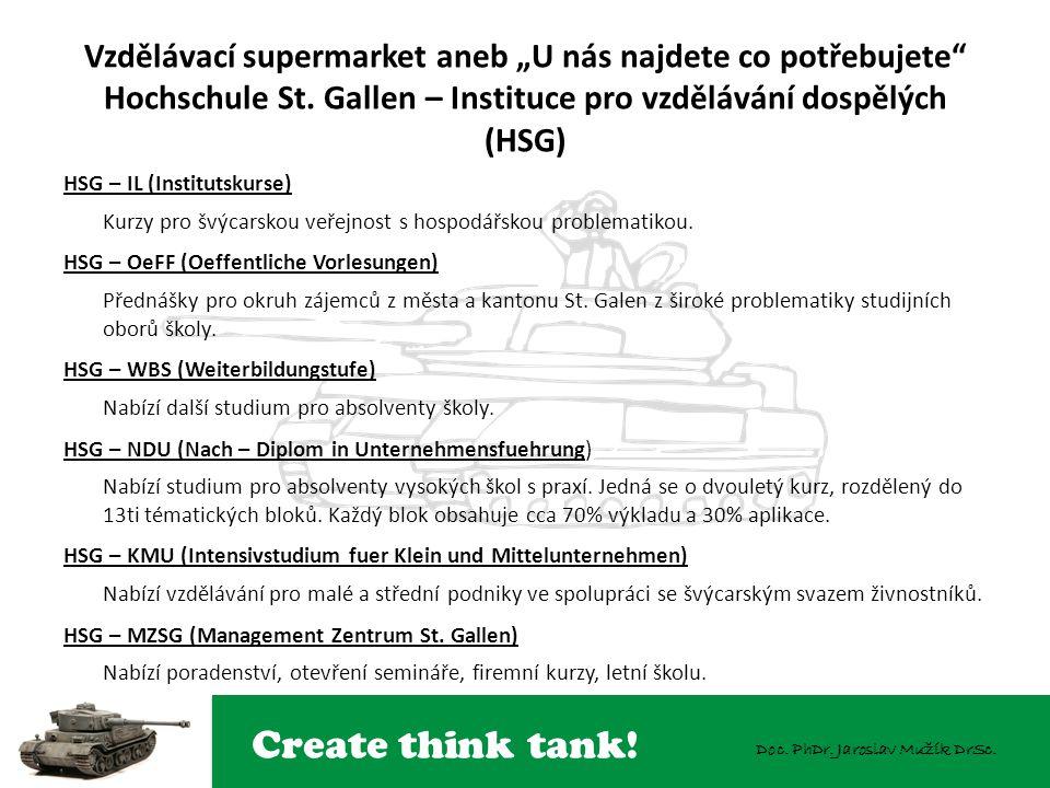 Create think tank. Doc. PhDr. Jaroslav Mužík DrSc.