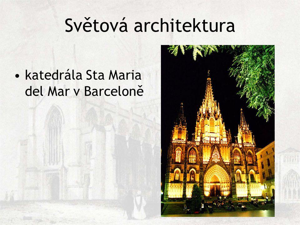 Světová architektura katedrála Sta Maria del Mar v Barceloně