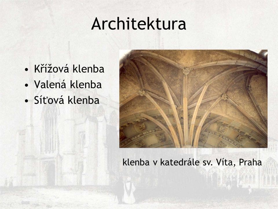 Křížová klenba Valená klenba Síťová klenba klenba v katedrále sv. Víta, Praha Architektura