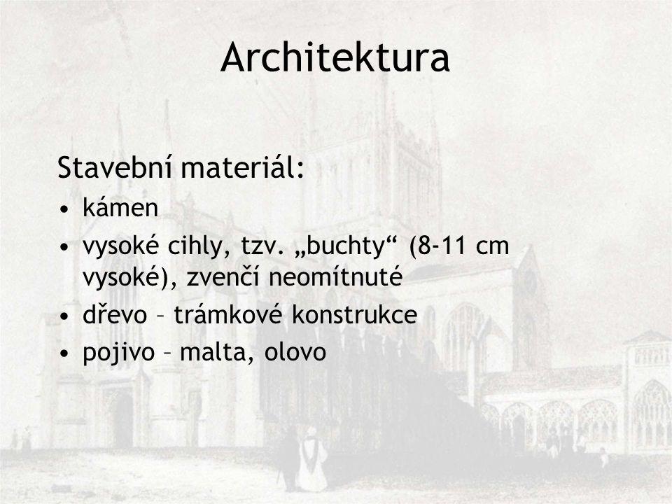 Stavební materiál: kámen vysoké cihly, tzv.