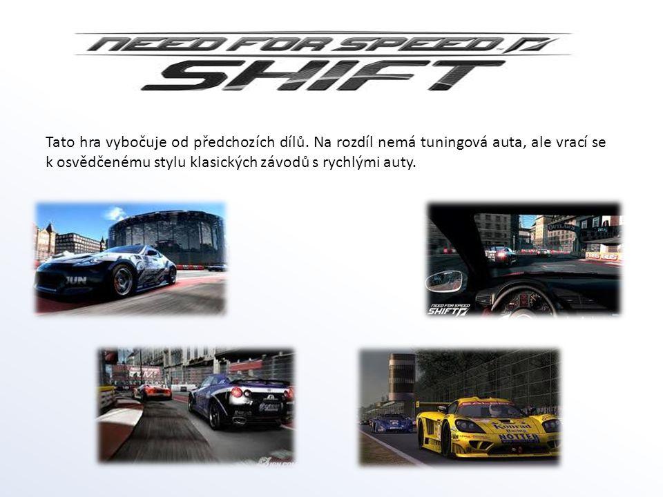 Tato hra vybočuje od předchozích dílů. Na rozdíl nemá tuningová auta, ale vrací se k osvědčenému stylu klasických závodů s rychlými auty.