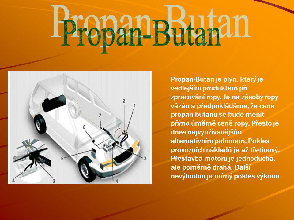 Propan-Butan je plyn, který je vedlejším produktem při zpracování ropy.