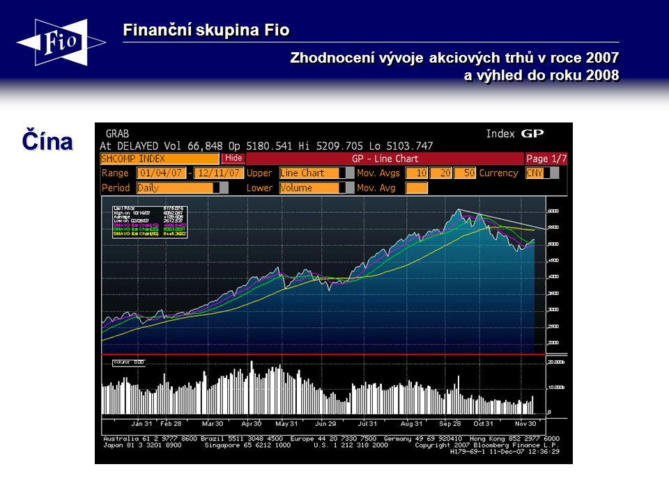 Finanční skupina Fio Zhodnocení vývoje akciových trhů v roce 2007 a výhled do roku 2008 Čína
