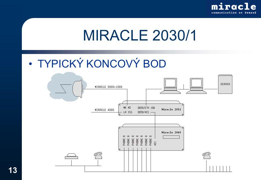 13 MIRACLE 2030/1 TYPICKÝ KONCOVÝ BOD