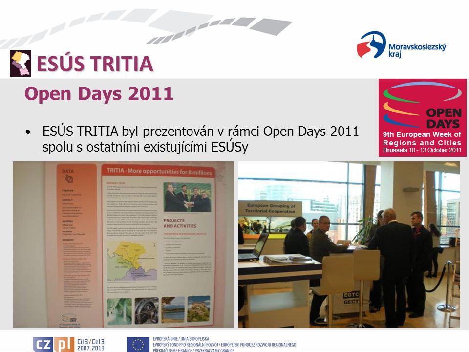 ESÚS TRITIA Open Days 2011 ESÚS TRITIA byl prezentován v rámci Open Days 2011 spolu s ostatními existujícími ESÚSy