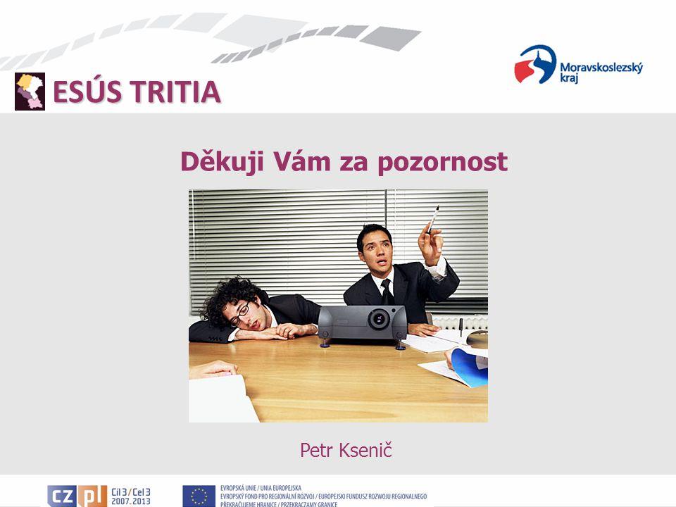 ESÚS TRITIA Děkuji Vám za pozornost Petr Ksenič