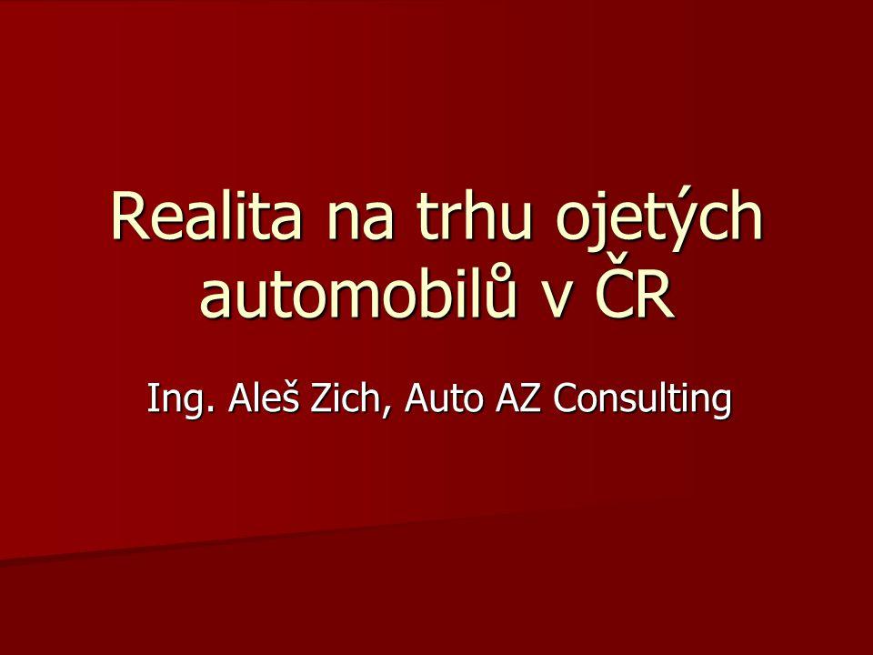 Realita na trhu ojetých automobilů v ČR Ing. Aleš Zich, Auto AZ Consulting