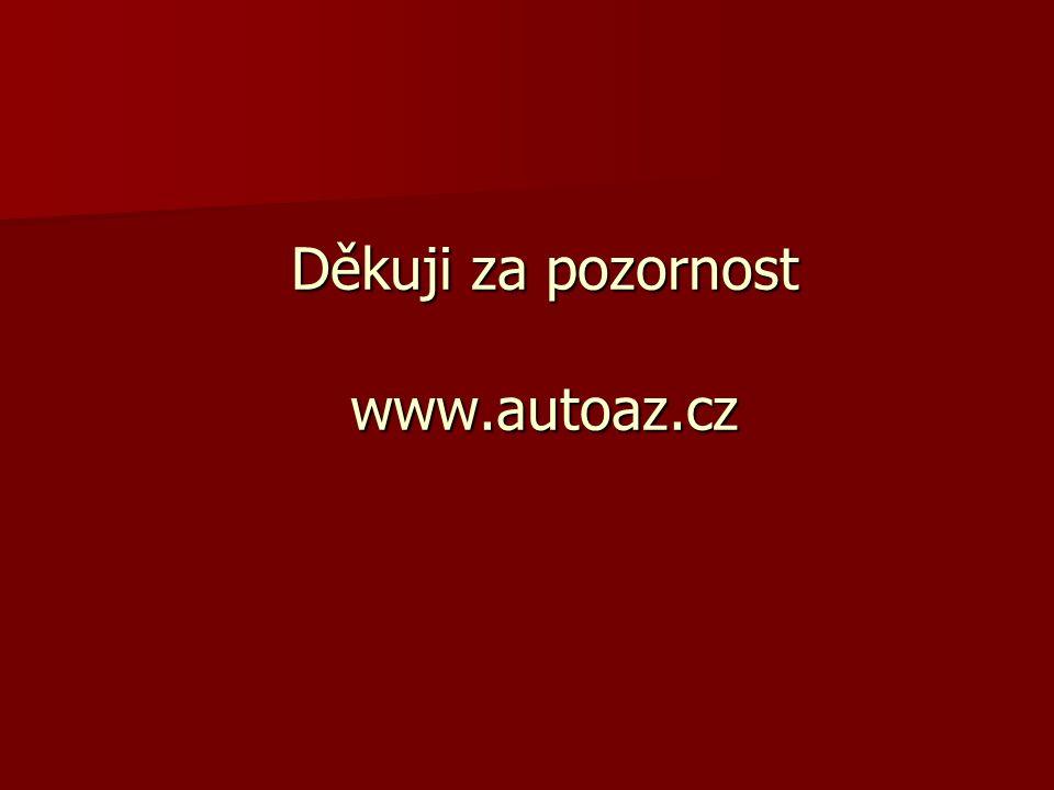 Děkuji za pozornost www.autoaz.cz