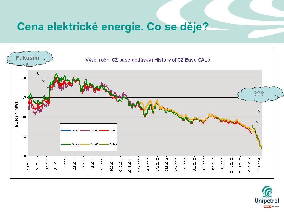 Cena elektrické energie. Co se děje? Fukušim a ???