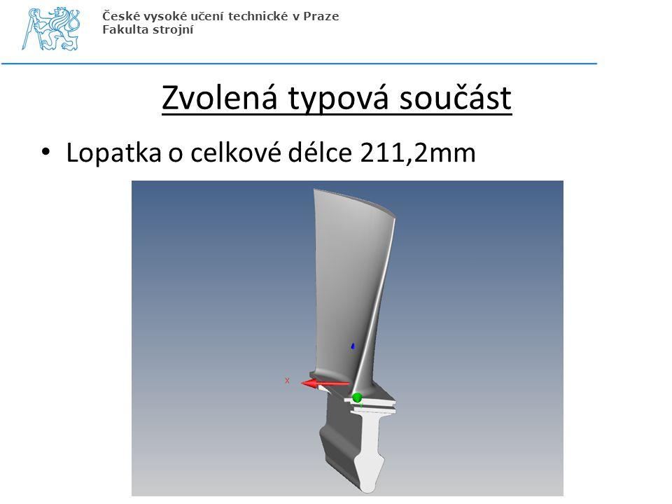 Zvolená typová součást Lopatka o celkové délce 211,2mm České vysoké učení technické v Praze Fakulta strojní