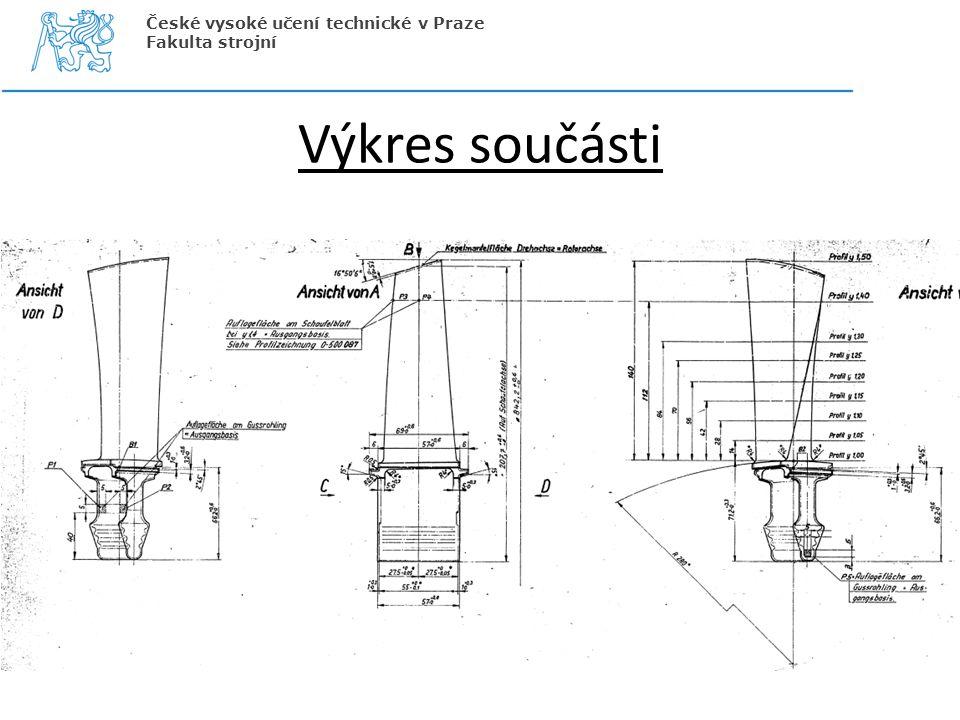 České vysoké učení technické v Praze Fakulta strojní Výkres součásti