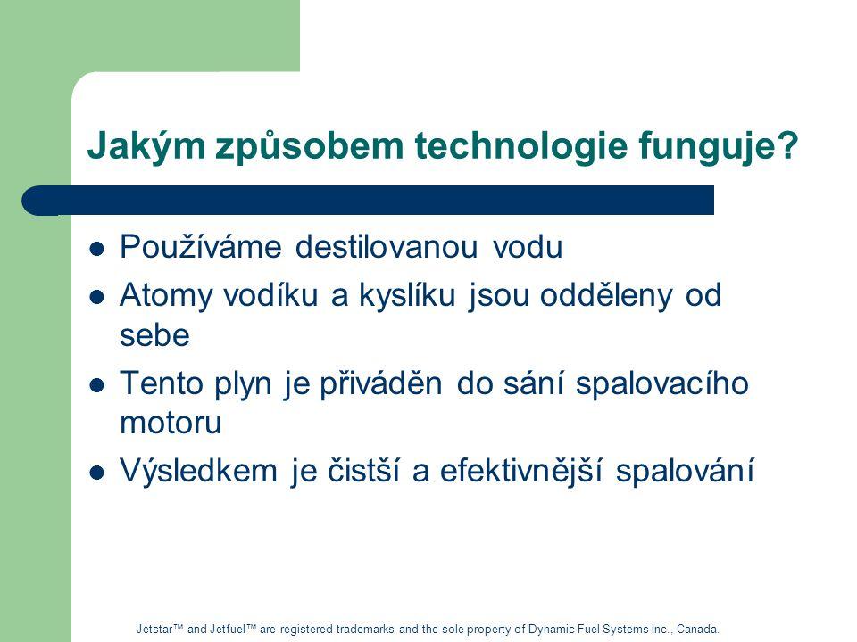 Jakým způsobem technologie funguje.