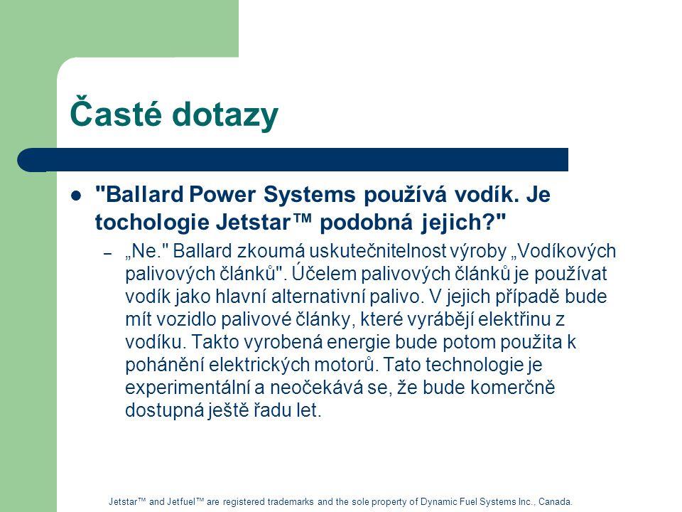 Časté dotazy Ballard Power Systems používá vodík.