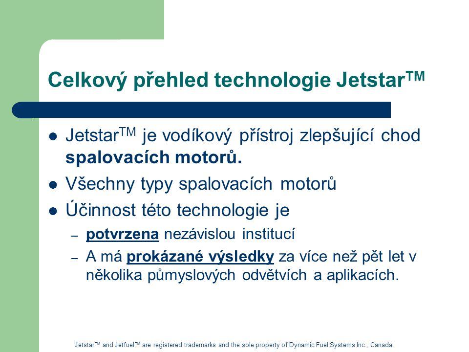 Celkový přehled technologie Jetstar TM Jetstar TM je vodíkový přístroj zlepšující chod spalovacích motorů.