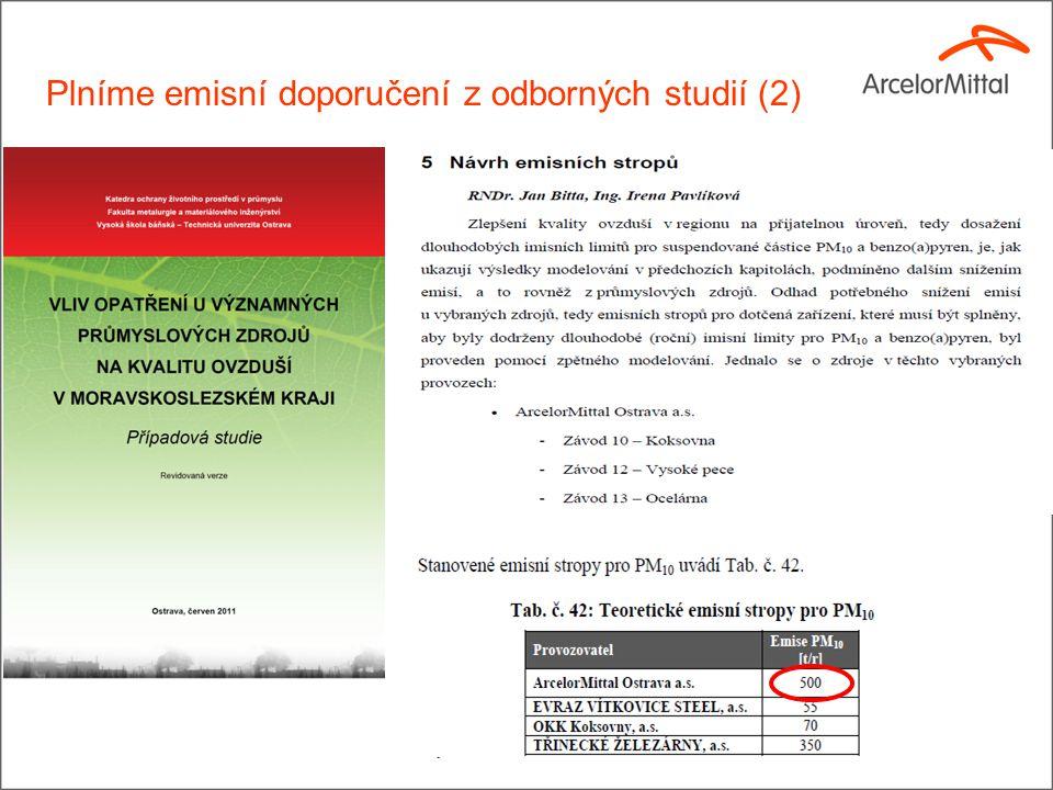 16 Plníme emisní doporučení z odborných studií (2)
