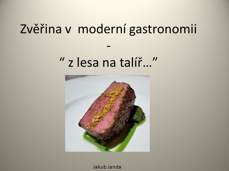 """Zvěřina v moderní gastronomii - """" z lesa na talíř…"""" Jakub Janda"""