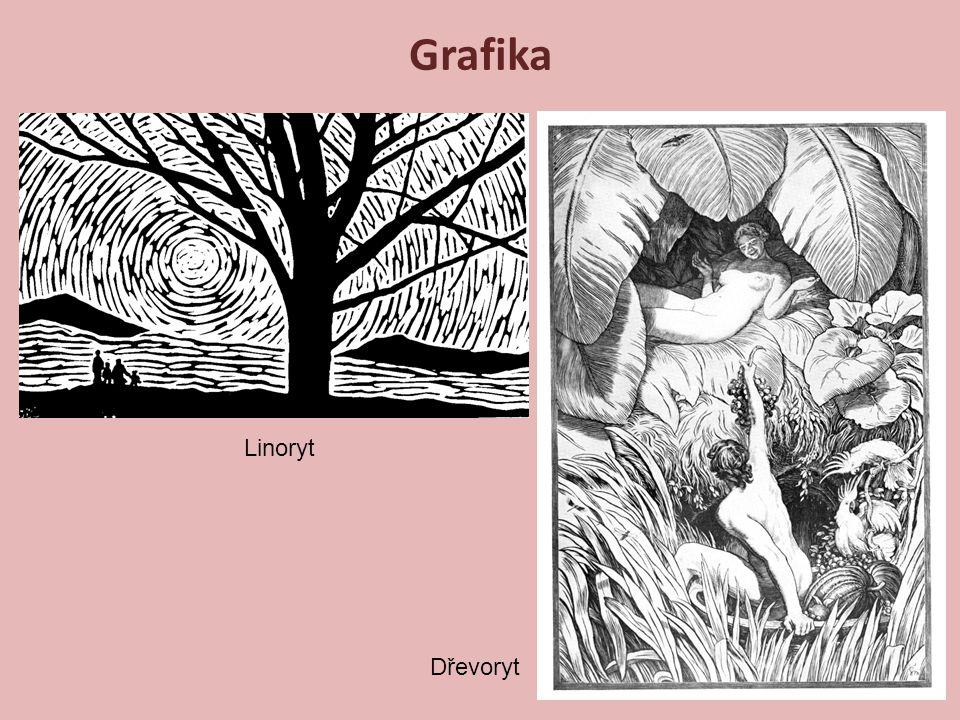 Linoryt Dřevoryt Grafika